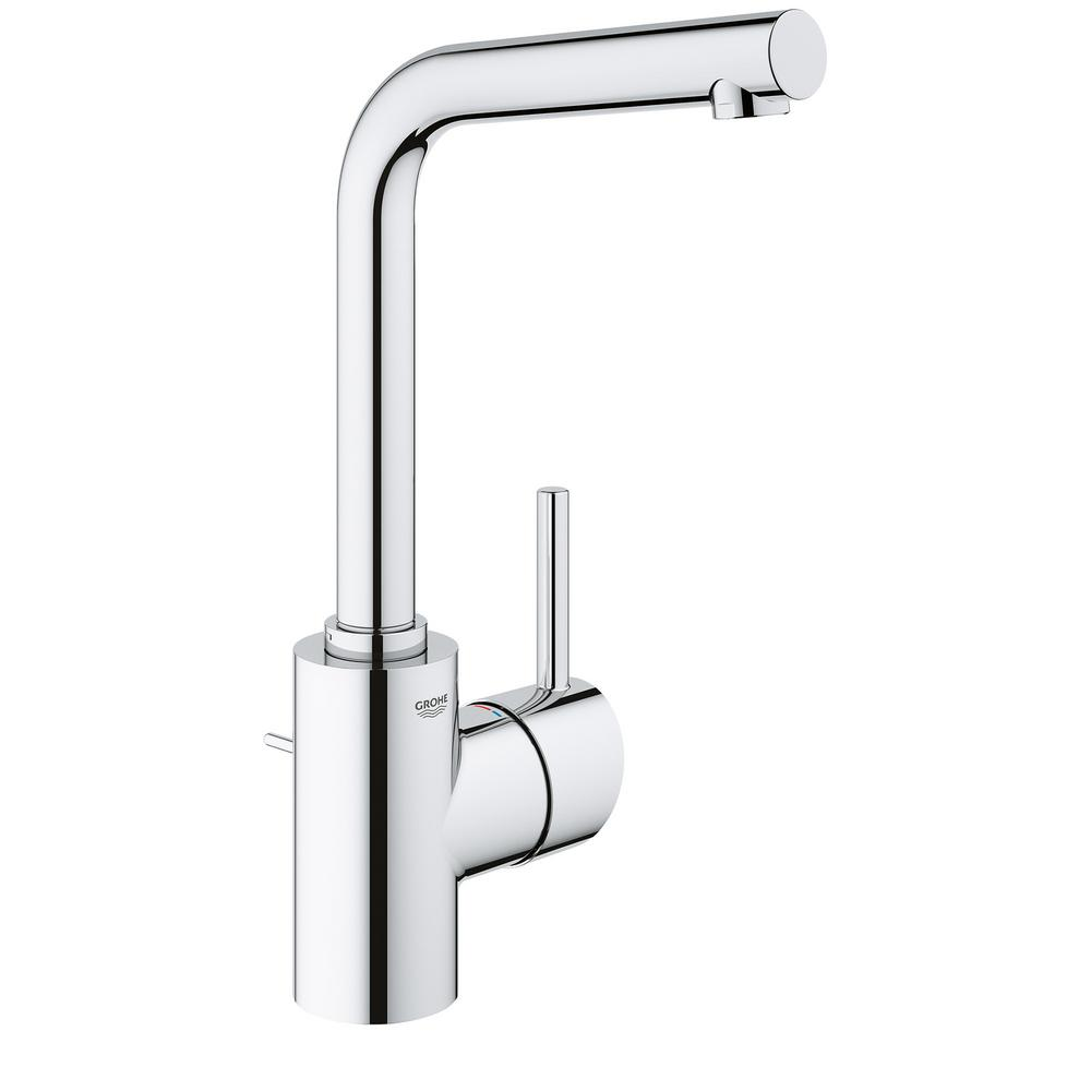GROHE Concetto Single Hole Single Handle Bathroom Faucet In StarLight Chrome