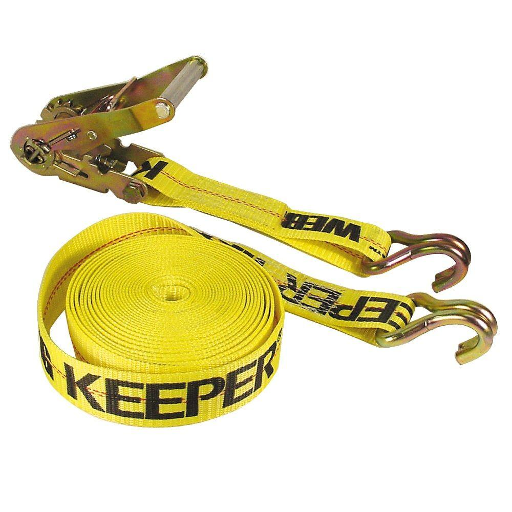 Keeper 40 ft. x 2 in. Hay Bale Tie Down, Yellow