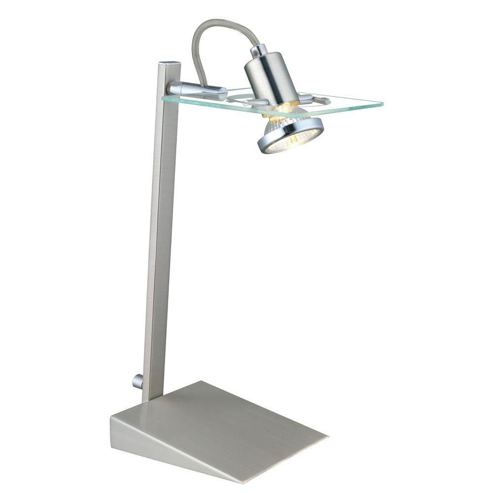 Focus 13-3/4 in. Matte Nickel Desk Lamp
