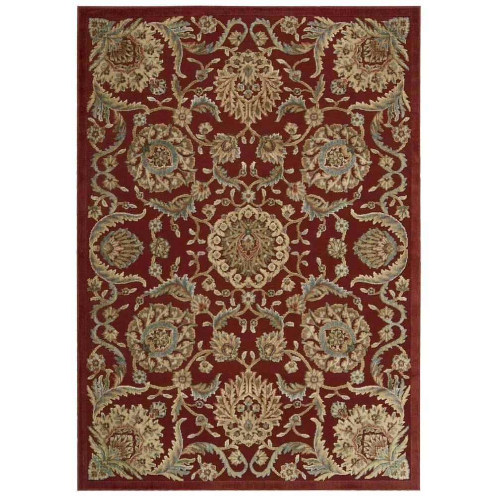 Nourison Graphic Illusions Red 5 ft. 3 in. x 7 ft. 5 in. Area Rug