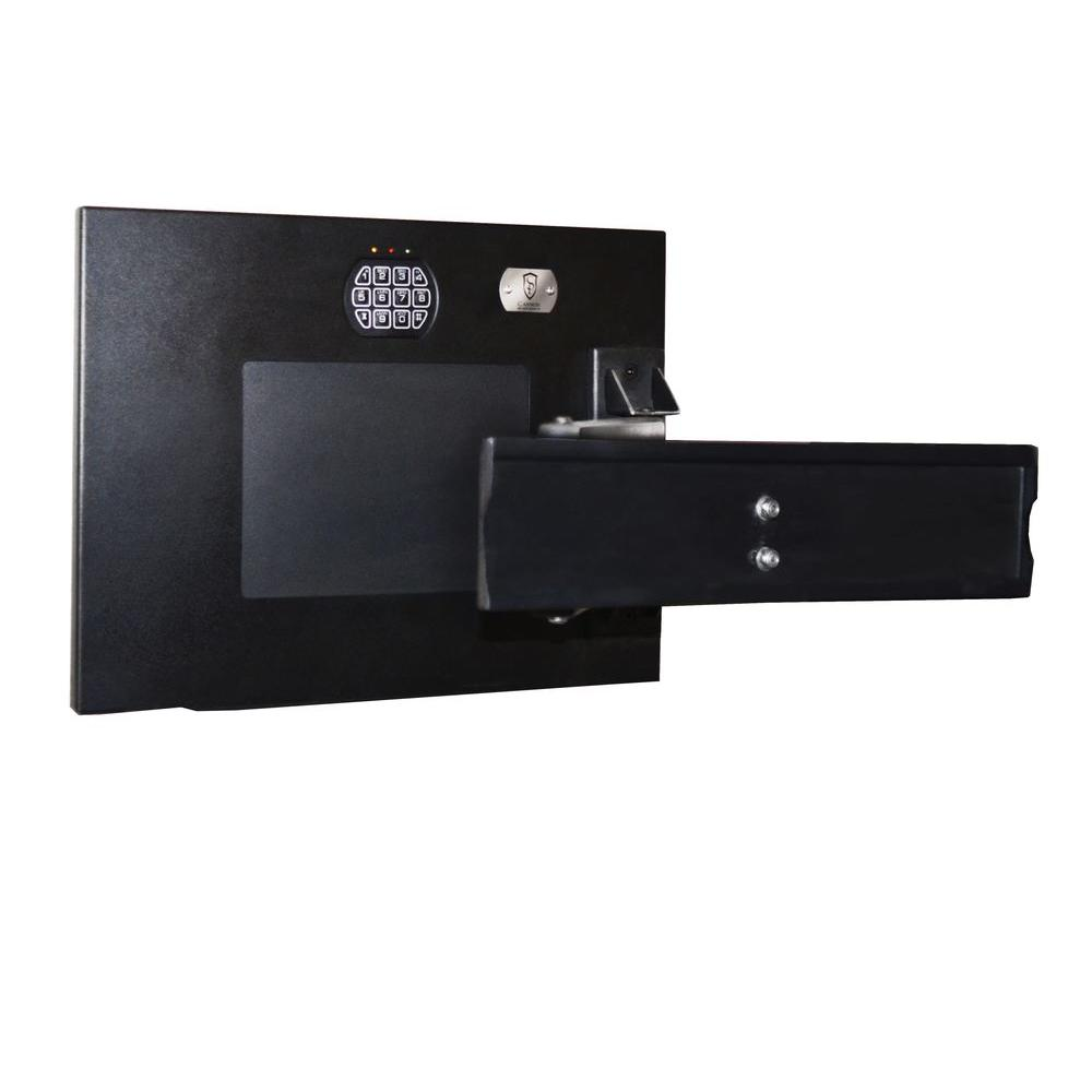 0.45 cu. ft. Wall Safe with TV Mounting Bracket, Black