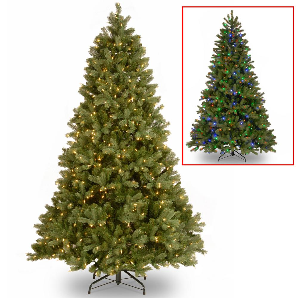 national tree company 75 ft downswept douglas fir artificial christmas tree with dual color led