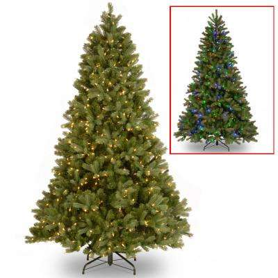 7.5 ft. Downswept Douglas Fir Artificial Christmas Tree with Dual Color LED Lights