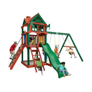 Gorilla Playsets Five Star II Cedar Swing Set with Timber Shield Posts by Gorilla Playsets