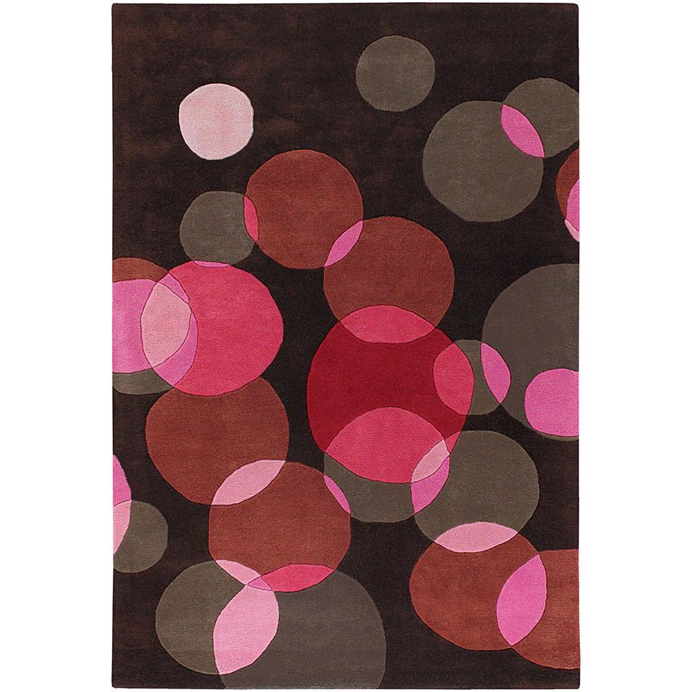 Avalisa Brown/Red/Pink/Taupe 5 ft. x 7 ft. 6 in. Indoor Area