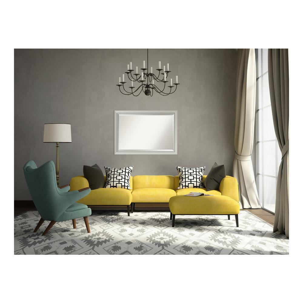Amanti Art Romano Narrow Silver Wood 40 In W X 28 In H