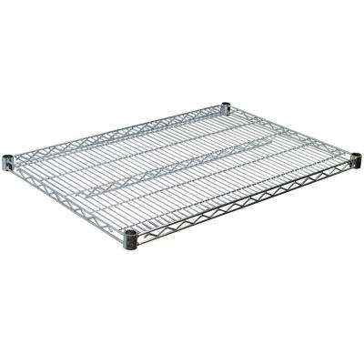 1.5 in. H x 36 in. W x 18 in. D Steel Wire Shelf in Chrome