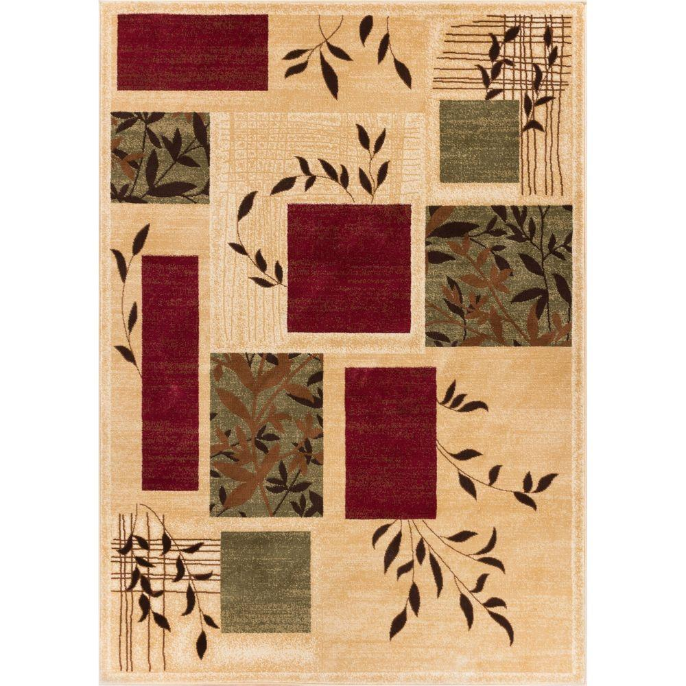 Well Woven Barclay Hannover Ivory 3 ft. 11 in. x 5 ft. 3 in. Modern Geometric Area Rug