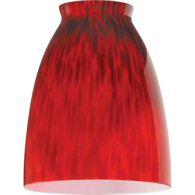 5-1/4 in. Handblown Temptress Red Shade with 2-1/4 in. Fitter and 4 in. Width