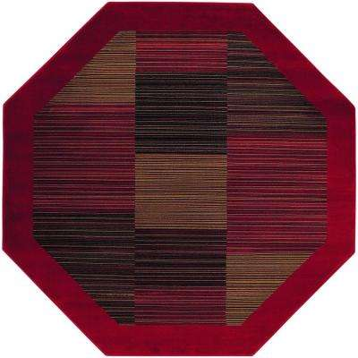 Everest Hampton's Red 3 ft. 11 in. x 3 ft. 11 in. Octagon Area Rug