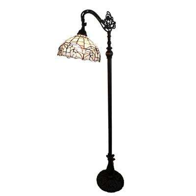 62 in. Tiffany Style Reading Floor Lamp