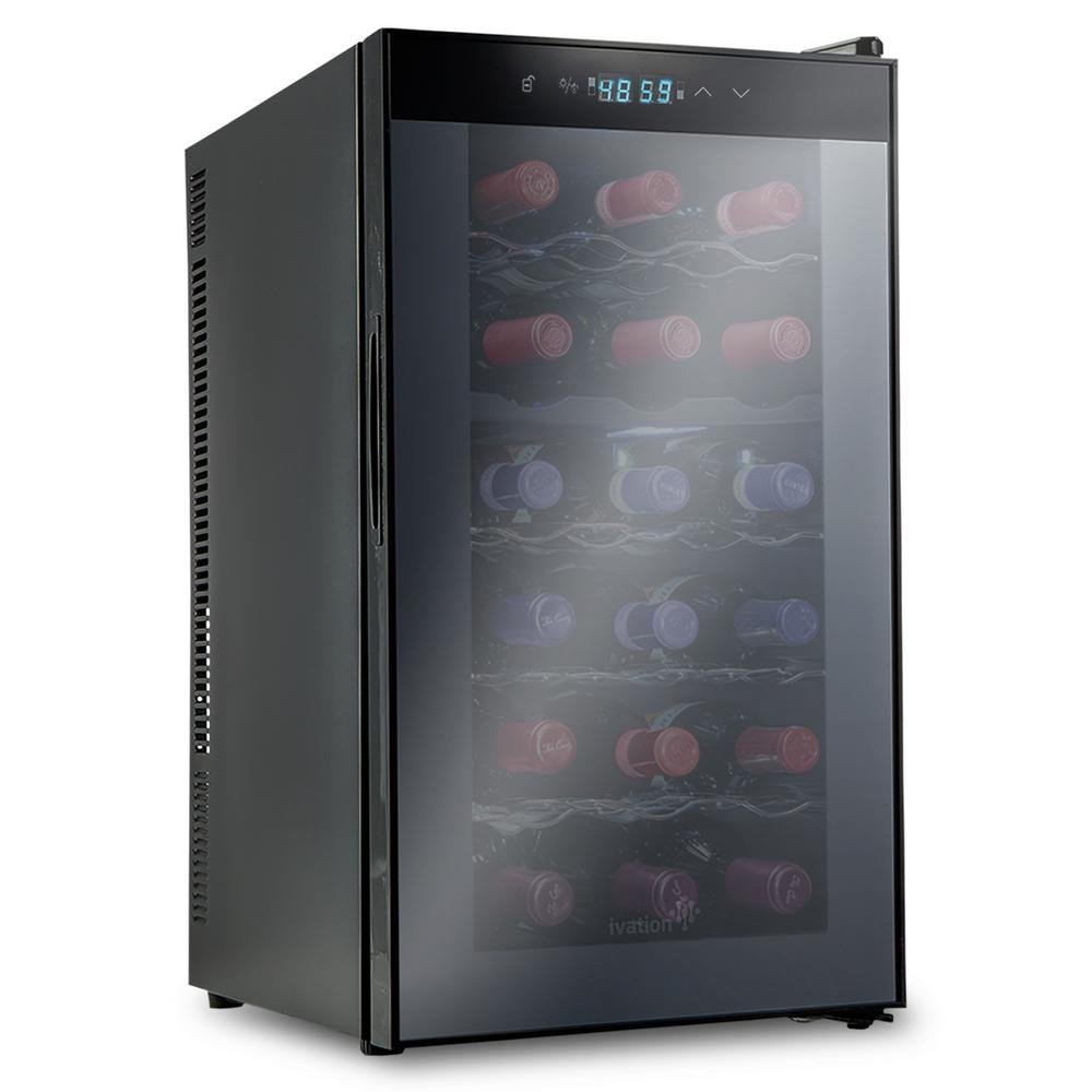 Ivation 18 Bottle Dual Zone Thermoelectric Freestanding