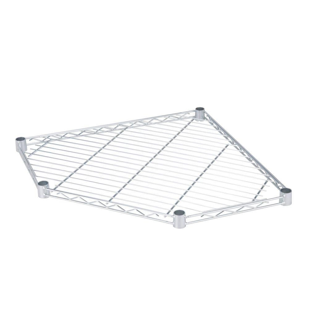 350 lb. 5-Side Steel Corner Shelf in Chrome
