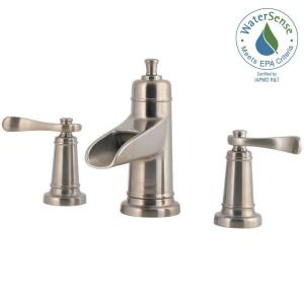 Ashfield 8 In. Widespread 2 Handle Bathroom Faucet In Brushed Nickel