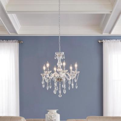 Canterbury Park 6-Light Chrome Crystal Chandelier