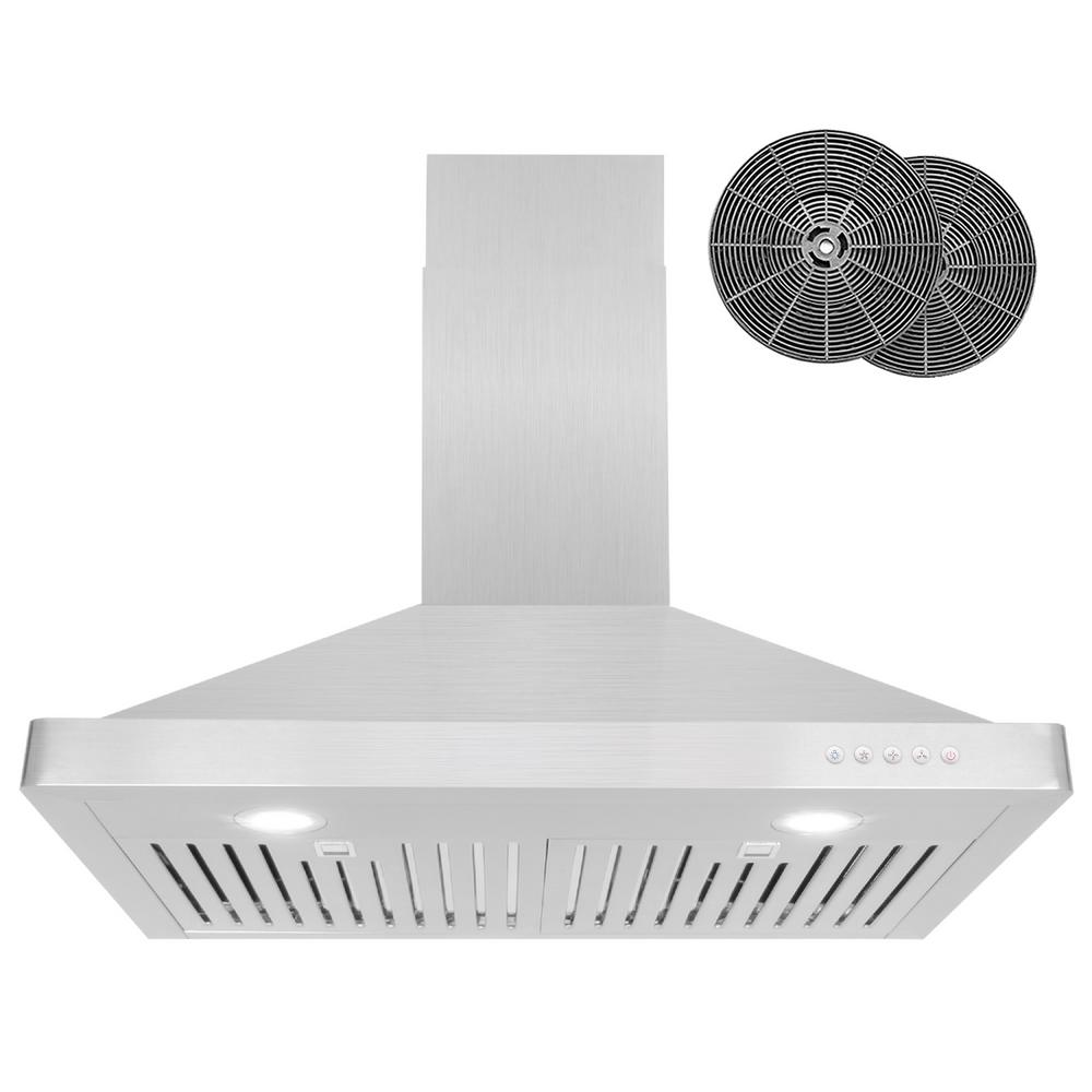 Cosmo 30 In Ductless Wall Mount Range Hood In Stainless Steel With