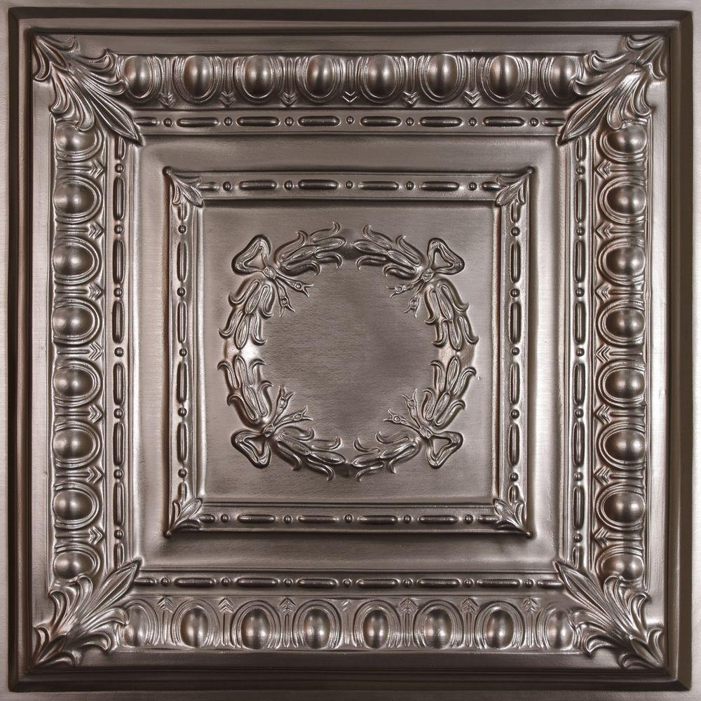 8df79b4713f7 Ceilume Empire Faux Tin 2 ft. x 2 ft. Lay-in or Glue-up Ceiling Panel (Case  of 6)