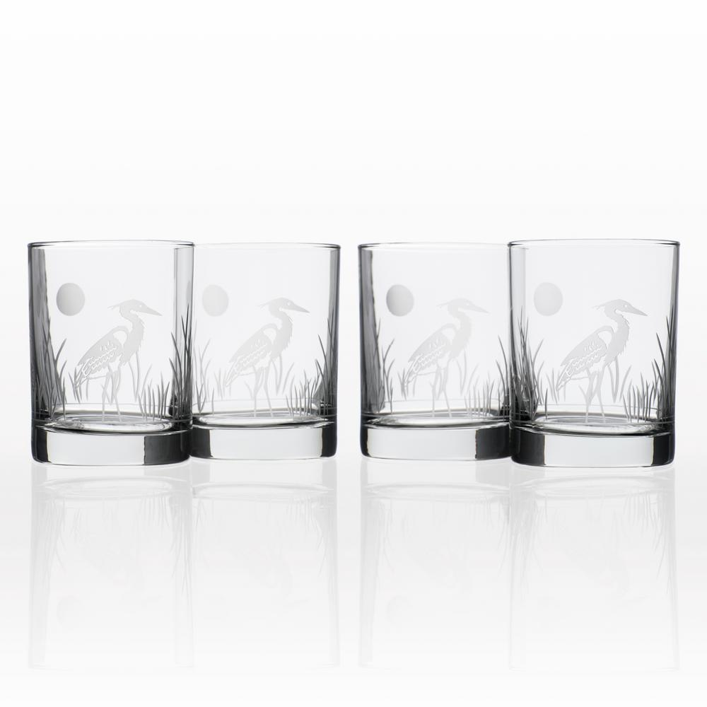 Heron 14 oz. Double Old Fashioned Glass (Set of 4)