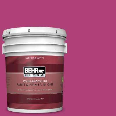 5 gal. #100B-7 Hot Pink Matte Interior Paint and Primer in One