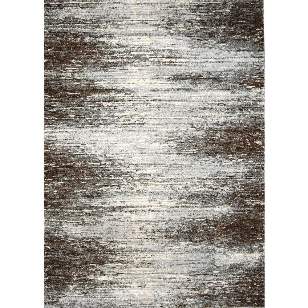Home Dynamix Rasta Gray/Brown 7 ft. 10 in. x 10 ft. 2 in. Area Rug