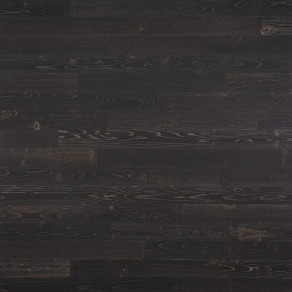 Timberchic 1/8 in. x 3 in. x 12-42 in. Peel and Stick Black Wooden Decorative Wall Paneling (10 sq. ft./Box)