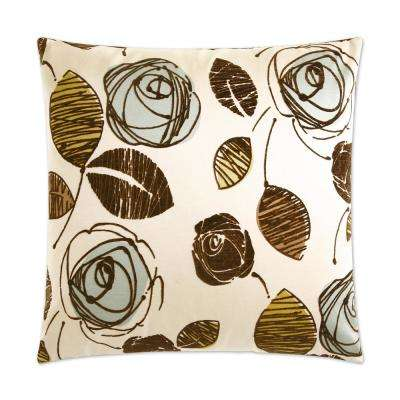 Tory Spa Feather Down 24 in. x 24 in. Standard Decorative Throw Pillow