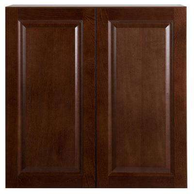 Benton Assembled 30x30x12 in. Wall Cabinet in Amber