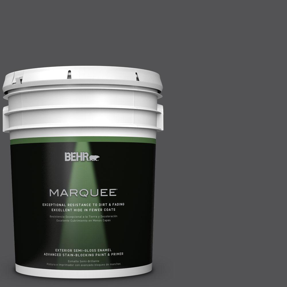5-gal. #BXC-30 Black Space Semi-Gloss Enamel Exterior Paint