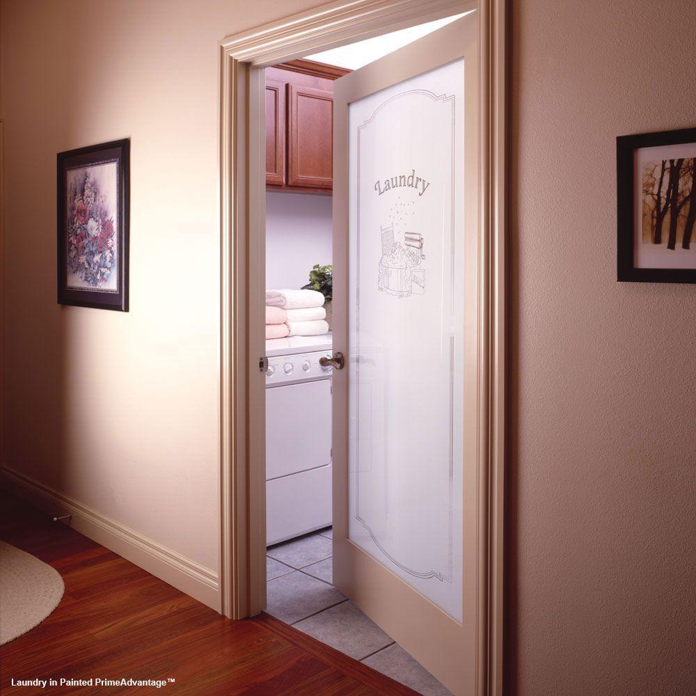 Feather River Doors 32 In X 80 1 Lite Laundry Smooth Primed Mdf Interior Door Slab