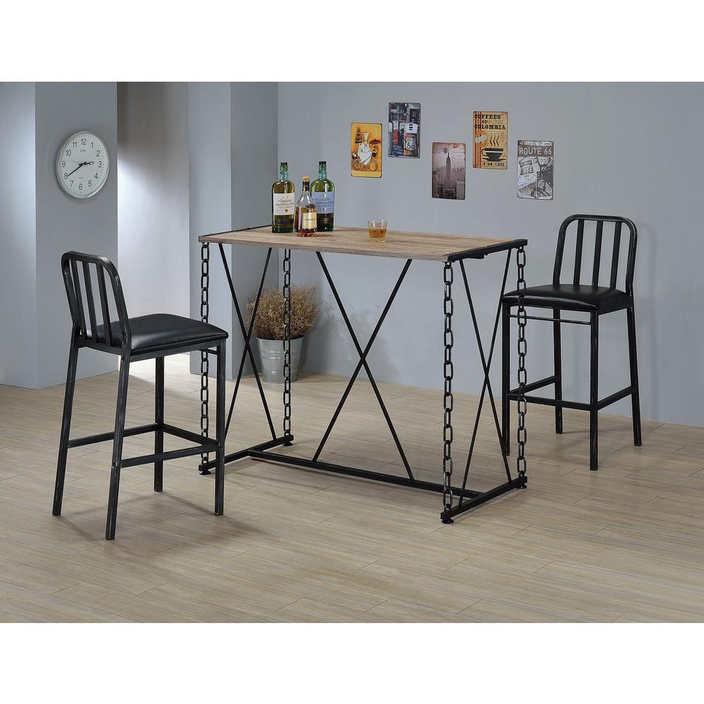 Acme Furniture Jodie Rustic Oak Pub/Bar Table by Acme Furniture
