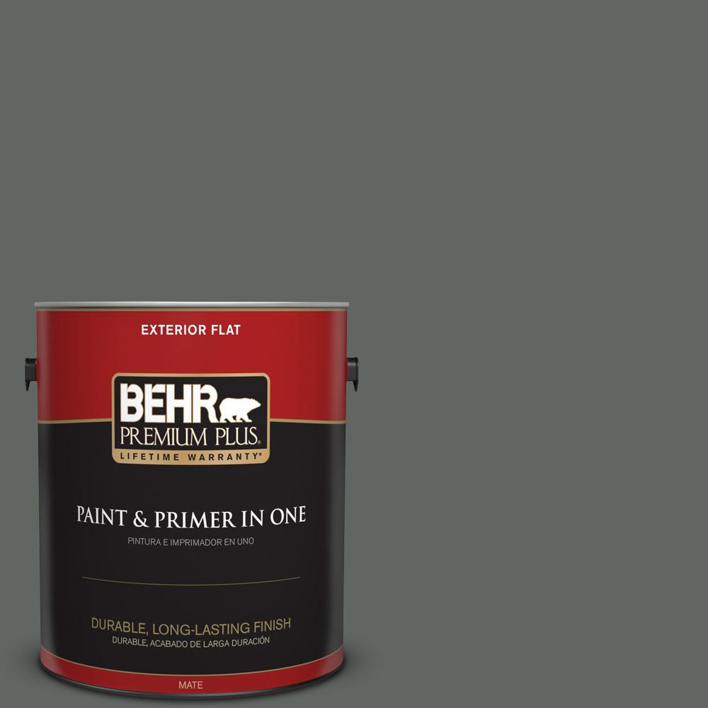1 gal. #PPU25-02 Black Locust Flat Exterior Paint