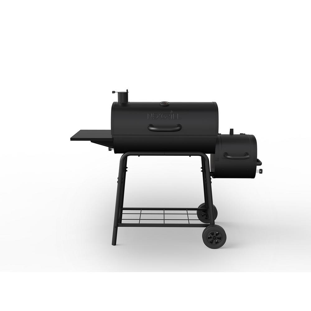 Nexgrill 29 In Barrel Charcoal Grill Smoker Black