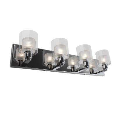 27.38 in. 4-Light Quadruple Chrome LED Wall Sconce