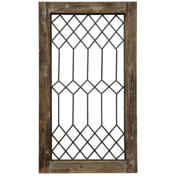 Stylecraft Wood Framed Metal Grate 1 Wall Decor Wi52458ds The Home Depot