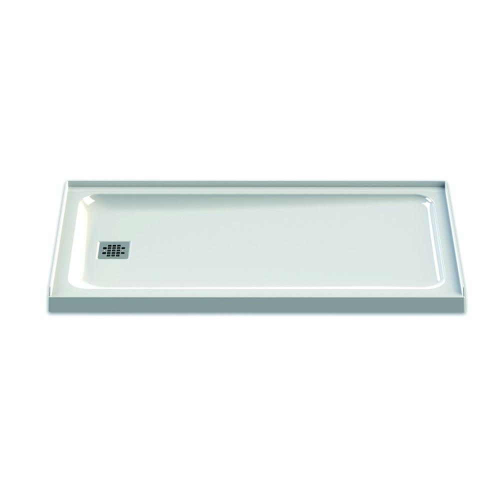 MAAX Olympia 60 in. x 32 in. Single Threshold Shower Base in White