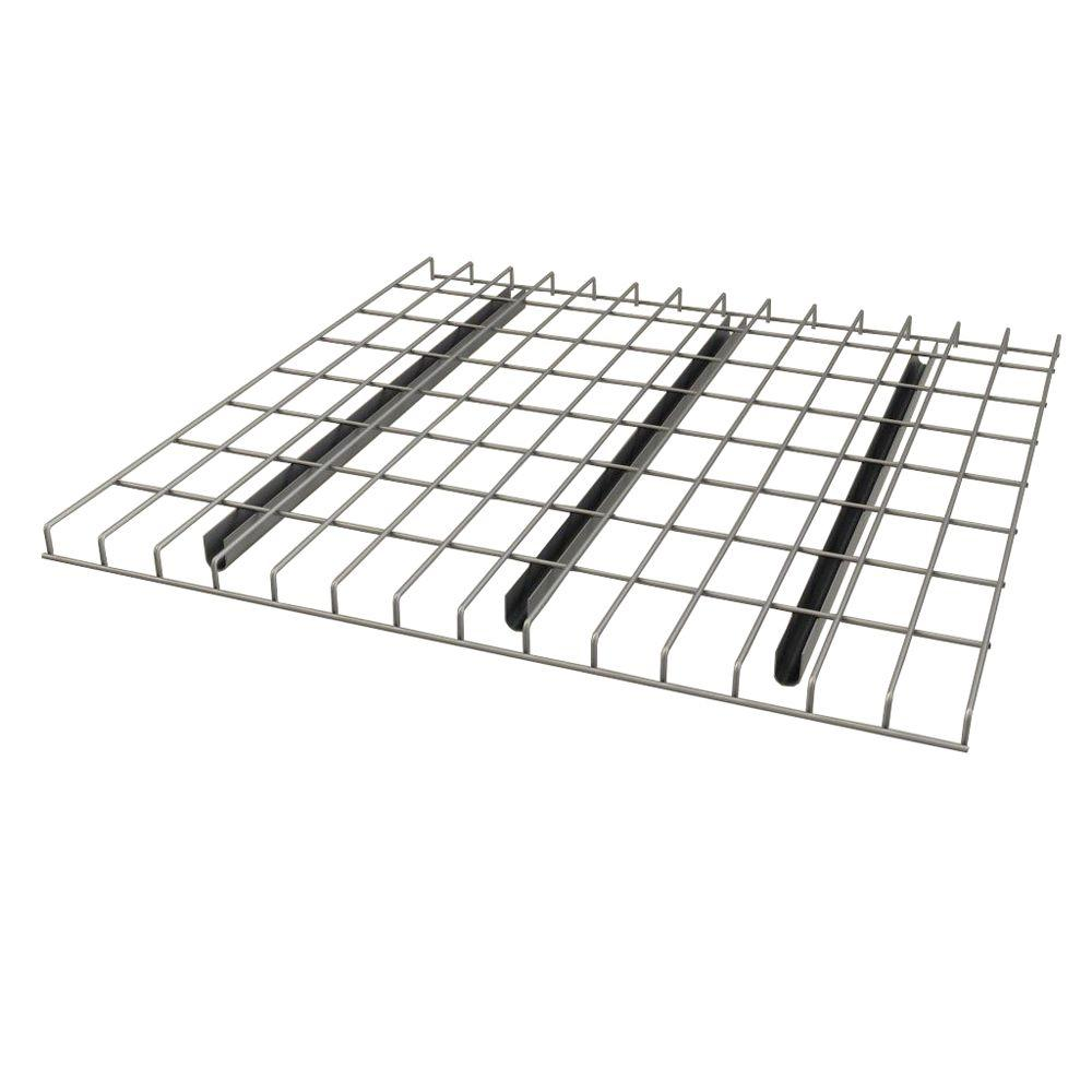 Sandusky 1.5 in. H x 52 in. W x 42 in. D Chrome (Grey) Pallet Rack Wire Deck Shelving Sandusky pallet rack wire decks provide support, safety and other benefits to warehouse racks. Wire decks are easy to install (they simply drop into place). These decks allow high visibility through all levels of pallet racking. Color: Chrome.