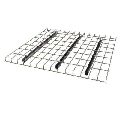 1.5 in. H x 52 in. W x 42 in. D Chrome Pallet Rack Wire Deck Shelving