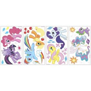 Store SKU #1001369962. RoomMates 11.5 In. Multi Color My Little Pony Peel  And Stick Wall Decals Part 34