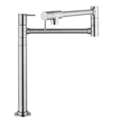 Axor Starck Deck Mounted Pot Filler in Steel Optik