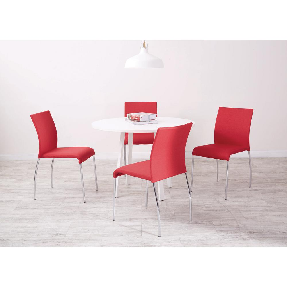 Ave Six Cranapple Fabric Conway Stacking Chairs (Set Of 4)
