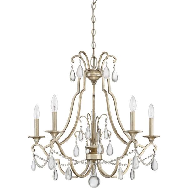 Vintage Gold Candle Style Chandelier
