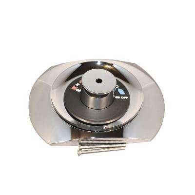 7 in. x 10 in. Escutcheon and Cap Kit in Polished Chrome