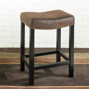 Phenomenal Armen Living Tudor 26 In Wrangler Brown Fabric And Black Uwap Interior Chair Design Uwaporg