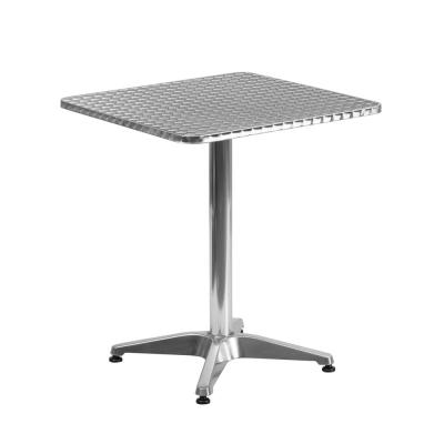 Aluminum Square Metal Outdoor Bistro Table