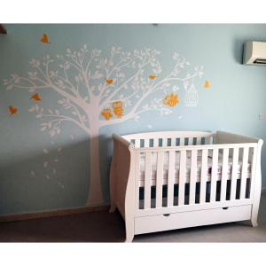 98 In X 80 Nursery Tree With Cute Owls Removable Wall Decal