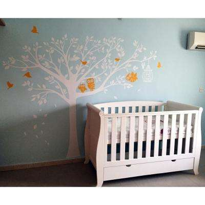 98 in. x 80 in. Nursery Tree with Cute Owls Removable Wall Decal
