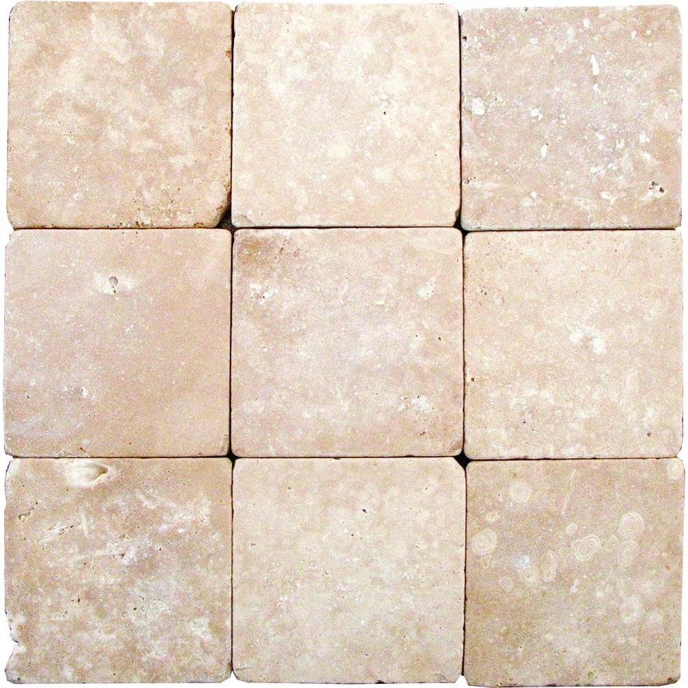 Msi Durango 4 In X Tumbled Travertine Floor And Wall Tile