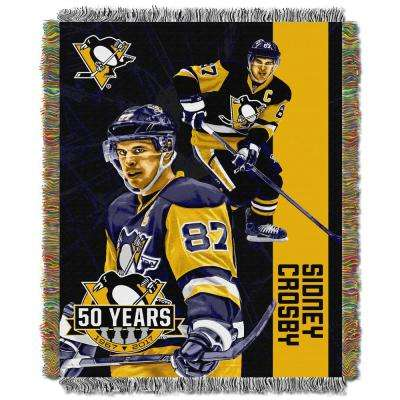 Player Sidney Crosby Multi Color Polyester Penguins Throw
