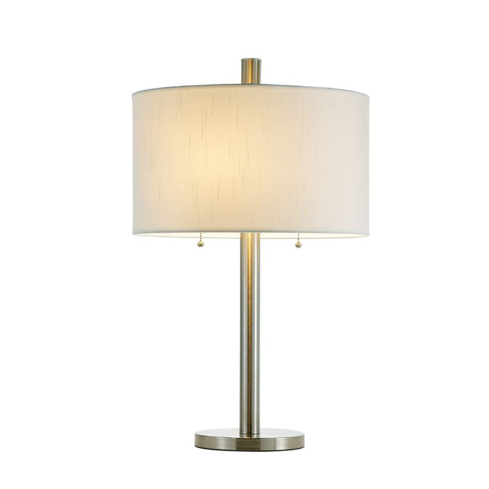 Adesso boulevard 28 in satin steel table lamp 4066 22 the home depot satin steel table lamp aloadofball Choice Image