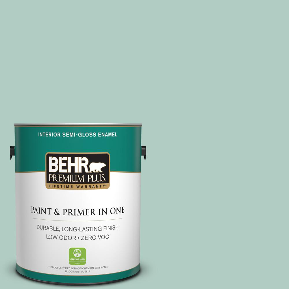 BEHR Premium Plus 1-gal. #M430-3 Wintergreen Dream Semi-Gloss Enamel Interior Paint